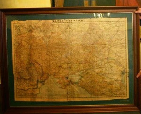 Карта прадавньої України від моря до моря